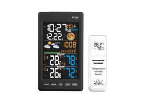 """Метеостанция c барометром выносным датчиком ЖК 5.6"""" PT19C, цветной экран"""