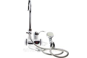 Мгновенный проточный водонагреватель с душем и дисплеем (Нижнее подключение)