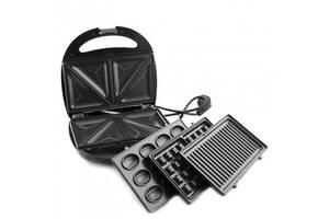 Мультимейкер GrandHOFF 4в1 вафельница, бутербродница, орешница, гриль со съёмными формами 1200 Вт (par_GT-779)