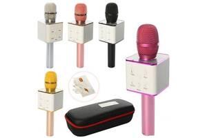 Микрофон для караоке Q7 с Bluetooth 4.1, совместим с приложениями на Android и iOS,  (разные цвета)