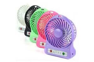 Ручной портативный мини вентилятор Mini Fan бытовой настольный на аккумуляторе USB на батарейках