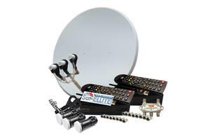 На 2 ТБ з Т2 + Wi-Fi комплект супутникового ТБ «Комбінований 2». НОВИНКА!
