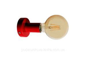 Настенный светильник, потолочная лампа, минимализм, стандартный цоколь, красный цвет