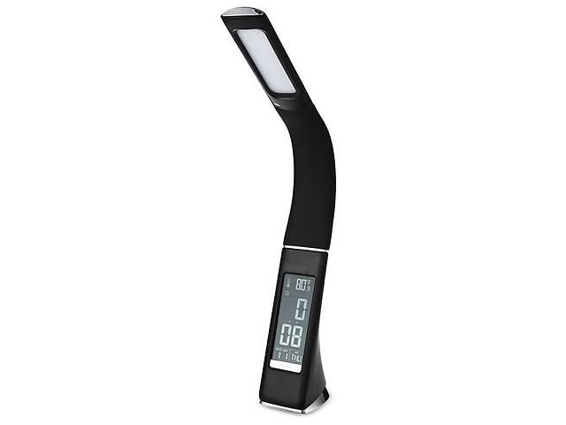 Настольная лампа Lightrich T-158 c часами и термометром, Black- объявление о продаже  в Запорожье
