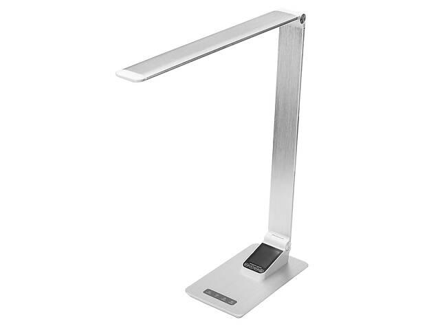 бу Настольная лампа Lightrich TC-180 c часами и термометром, Silver  в Украине
