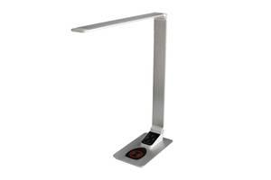 Настольная лампа Lightrich TX-180 c беспроводной зарядкой, Silver
