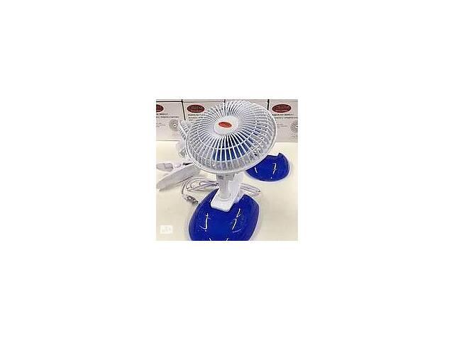купить бу Настольный универсальный электрический вентилятор WIMPEX WX-605 с защитной решеткой прищепкой и подставкой в Харкові