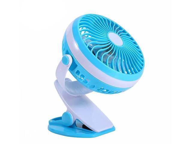 купить бу Настольный портативный мини вентилятор Mini Fan ML-F168 бытовой на аккумуляторе от USB с прищепкой в Харькове