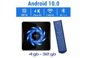 Нова модель Смарт ТВ приставки X96Q MAX 4гб / 32гб на Андроїд 10 для перегляду фільмів телебачення серфінгу в інтернеті
