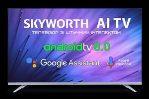 Новый телевизор Skyworth 43E6AI со смартом.