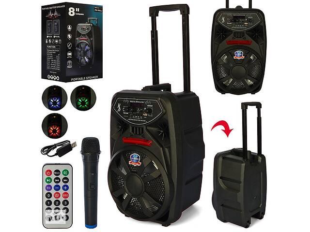 купить бу Портативная колонка-чемодан на колесах с ручкой, с Bluetooth, микрофоном, пультом, на аккумуляторе PK-09L в Одессе