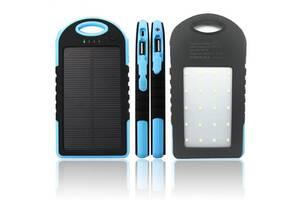 Power Bank Solar 30000 mAh с фонарем павер банк солнечный аккумулятор Голубой
