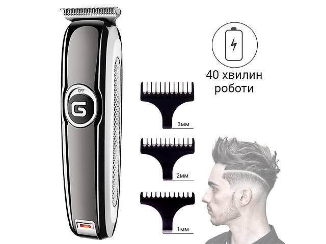 продам Профессиональная беспроводная машинка для стрижки волос электрическая GEMEI GM-6050 с аккумулятором и тремя насадками бу в Одессе