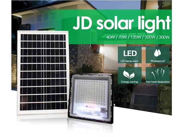продам Прожектор JD-7120 120W, IP67, солнечная батарея, пульт ДУ, встроенный аккумулятор, таймер, датчик бу в Одессе