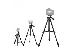 Штатив трипод для камеры и телефона смартфона и фотоаппарата Kronos раскладной с чехлом 35-102 см (par_35-102Tripod)