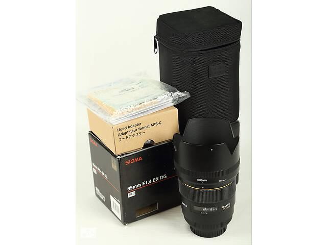 купить бу Sigma 85mm f/1.4 EX DG HSM for Canon в Одессе