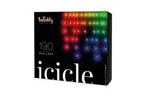 Smart LED Гірлянда Twinkly Icicle RGB BT + WiFi кабель прозорий 5 м, 190 ламп