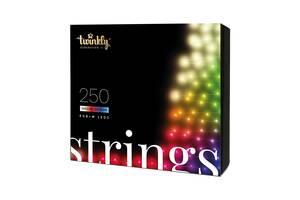 Smart LED Гірлянда Twinkly Strings RGBW BT + WiFi кабель прозорий 20 м, 250 ламп