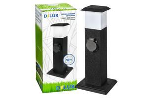 Светильник садово-парковый TOWER SMM-202GL E14 + роз 2 вых. с з/к и крышкой 16А черный металл