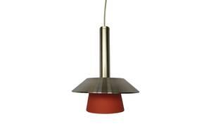 Світильник стельовий,  1х40 Вт,Е14.арт.9224/1R,  плафон померанчовий, сталь. Потолочный светильник подвес