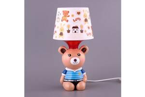 Світильник дитячий з абажуром Fashion Lamp Ведмедик 32 см 39-222