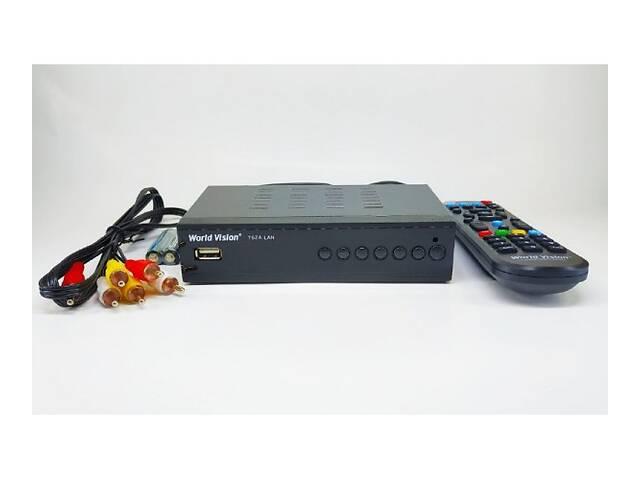 продам Цифровая T2 приставка, тюнер-приемник DVB-T2 ресивер World Vision T62A Lan SKL31-239432 бу в Одессе