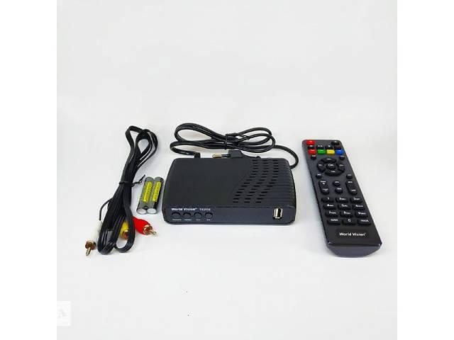 купить бу Цифровая T2 приставка, тюнер-приемник DVB-T2 ресивер World Vision T62D2 SKL31-239430 в Одессе
