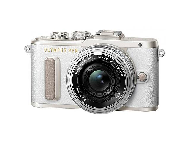 бу Цифровой фотоаппарат OLYMPUS E-PL8 14-42 mm Pancake Zoom Kit white/silver (V205082WE000) в Киеве