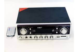 Усилитель мощности звука UKC SN-305BT  с функцией караоке и пультом ДУ FM Bluetooth USВ Черный