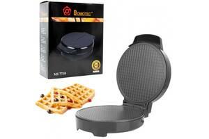 Вафельница електрична DOMOTEC MS 7710 для приготування тонких вафель 1000Вт Чорна