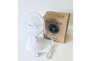 Вентилятор настільний DOMOTEC MS-1623 з прищіпкою, 2 режими Білий