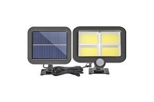 Водонепроницаемый уличный светильник Lf-1530 с датчиком движения и солнечной выносной панелью
