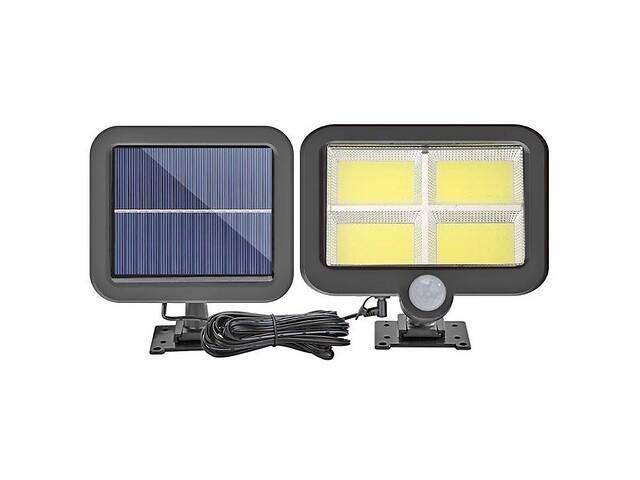 купить бу Водонепроницаемый уличный светильник Lf-1530 с датчиком движения и солнечной выносной панелью в Харькове