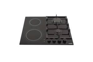 Встраиваемая варочная газовая поверхность Ventolux HG622 B9G CS (BK) варочна поверхня під забудову плита печка
