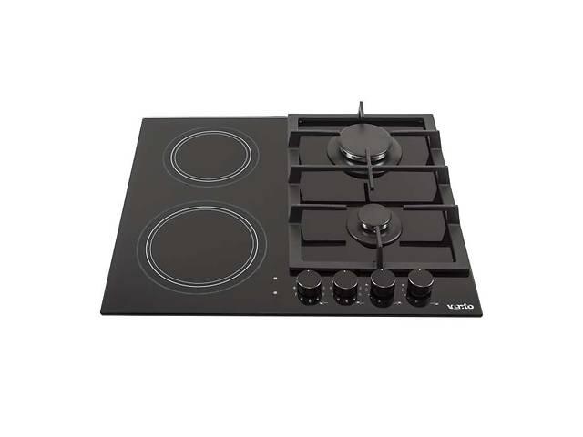купить бу Встраиваемая варочная газовая поверхность Ventolux HG622 B9G CS (BK) варочная поверхность под застройку плита печка в Киеве