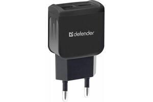 Зарядное устройство Defender UPС-21 2xUSB,5V/2.1А кабель microUSB (83581)