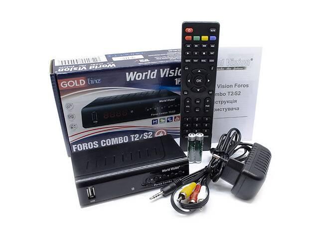 продам Т2 приставка - приемник - спутниковый ресивер World Vision Foros Combo T2-S2-C R156255 бу в Одесі