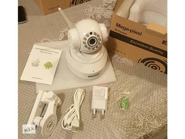 Вращающаяся IP камера ESCAM QF001 с качеством записи 720P и WIFI- объявление о продаже  в Киеве