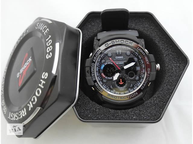 купить бу Часы G-Shock - Gulfmaster Gold, черный безель, стальной бокс, черные в Харькове