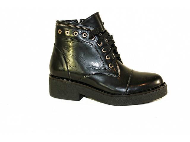 Черные ботинки на шнурках код Дакотаб1- объявление о продаже  в Николаеве