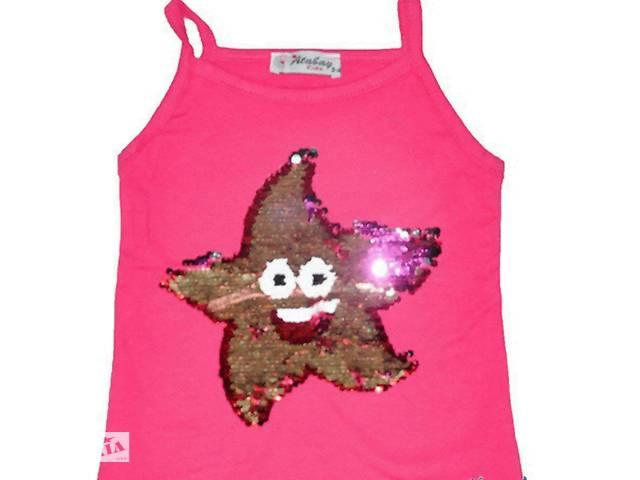 купить бу Детские  футболки  с пайетками. в Лисичанске