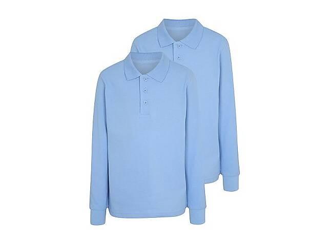 продам Футболка - поло школьная голубая с длинным рукавом George. Код 181001 бу в Киеве