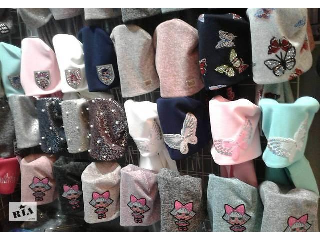 купить бу Весенние шапки и комплекты для девочек, объем головы 48 - 56 см в Киеве