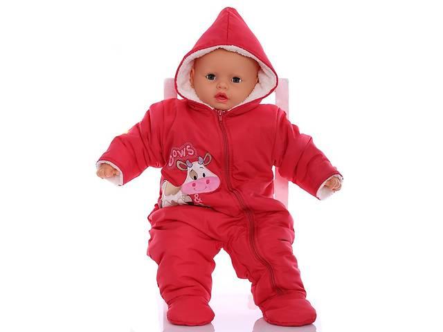 купить бу Зимний комбинезон для новорожденных Milka красный в Киеве