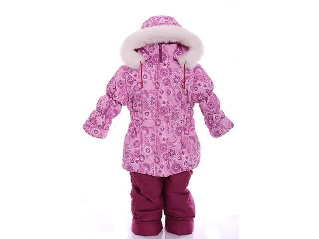 продам Зимний костюм для девочки Классика с рисунком розовый с цветами бу в Одессе