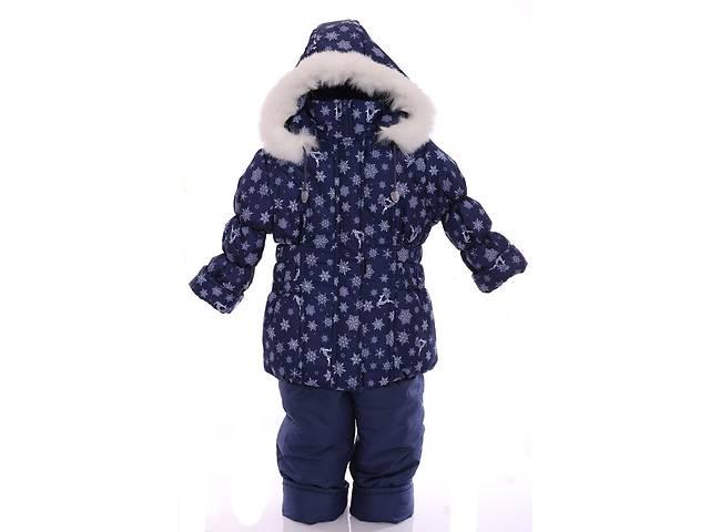 продам Зимний костюм для девочки Классика с рисунком синий со снежинками бу в Одессе
