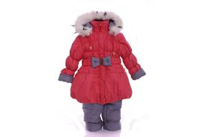 Зимний костюм для девочки Колокольчик светло коралловый