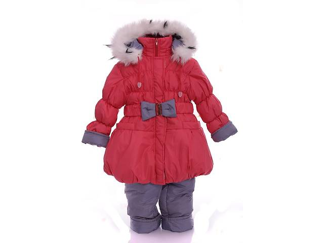 купить бу Зимний костюм для девочки Колокольчик светло коралловый в Одессе