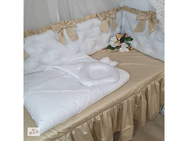 продам Бортики в кроватку + балдахин+ плед + подушка бу в Дубно