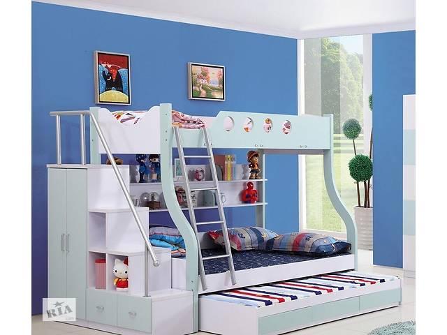 детская двухъярусная кровать чердак дм 158 трио детская мебель в